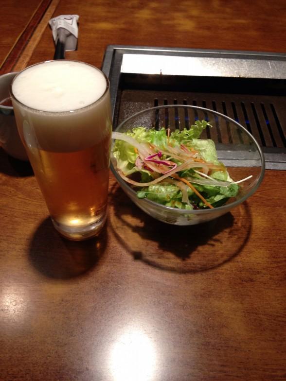焼肉 上野太昌園 ビール