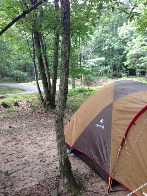 奥琵琶湖キャンプ場でキャンプ