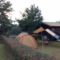 【マイアミ浜オートキャンプ場 小雨の中 Aサイトで一泊】琵琶湖沿いで自然いっぱい