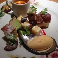 京都紅葉観光におすすめ【フレンチ 祇園おくむらのランチ】秋らしい食器と盛り付け
