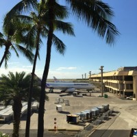 子供連れハワイ旅行1日目【関空からハワイアン航空・グーフィーカフェ・ヒルトンBBQ】