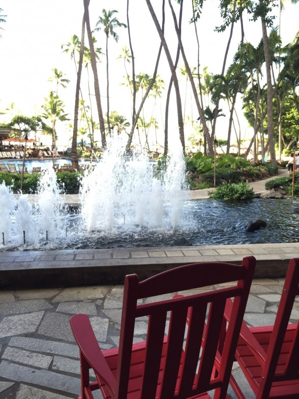 ヒルトンホテル内 噴水