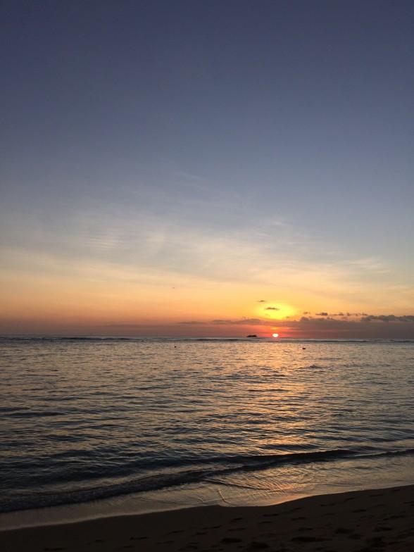 時間通りに沈む夕日
