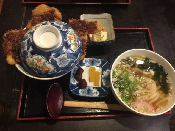 福井県小浜市のこだま食堂 ソースカツ丼セット