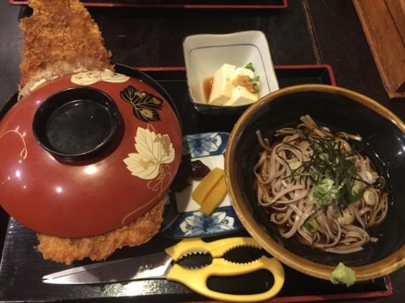 福井県小浜市のこだま食堂 ソースカツ丼卵とじセット