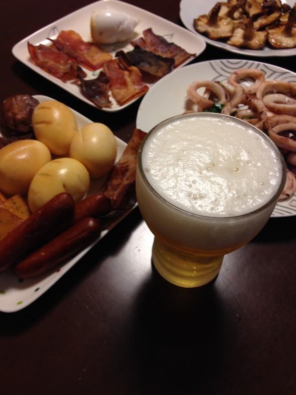 ビールとスモーク料理