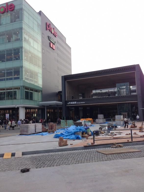 工事中の姫路駅