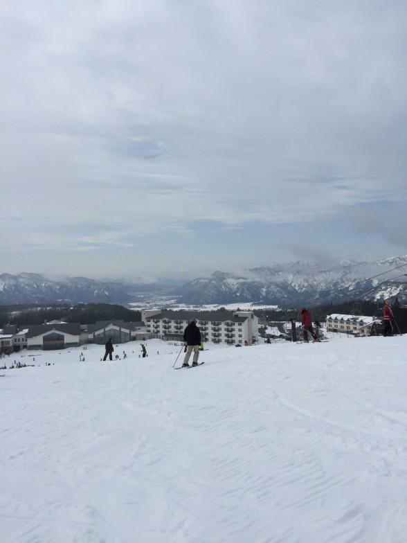 雪山からの綺麗な眺め